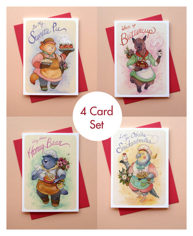 Sweetie Series - 4 Greeting Card Set