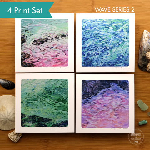 Mini Wave Studies II - 4 Print Set
