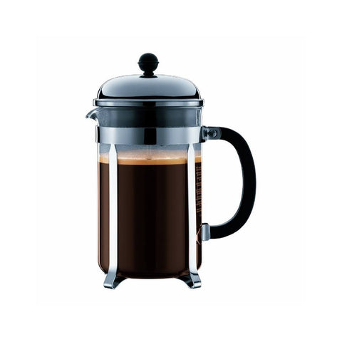 Bodum CHAMBORD 8-Cup (1L) French Press Coffee Maker [Shatter-Resistant Beaker] - The Concentrated Cup