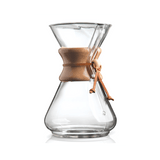 "Chemex 10-Cup Pour-Over ""Classic"" Series Glass Coffee Maker - The Concentrated Cup"