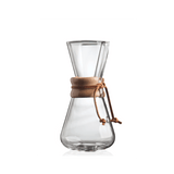 "Chemex 3-Cup Pour-Over ""Classic"" Series Glass Coffee Maker - The Concentrated Cup"