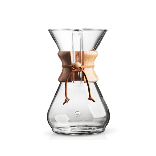 "Chemex 8-Cup Pour-Over ""Classic"" Series Glass Coffee Maker - The Concentrated Cup"
