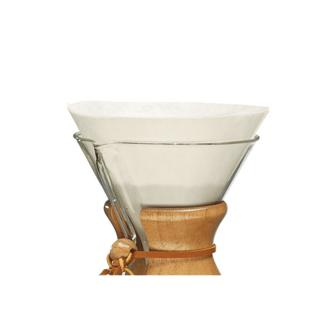 Chemex Bonded Pre-Folded FC-100 Filter Circles  (for the Chemex 6-Cup/ 8-Cup/10-Cup Pour-Over Glass Coffee Maker) - The Concentrated Cup
