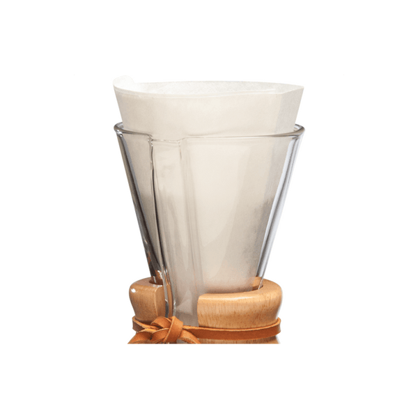 Chemex Bonded 3-Cup Half-Circle FP-2 Filters - The Concentrated Cup