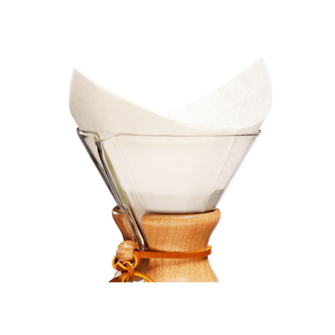 Chemex Bonded Pre-Folded FS-100 Filter Circles  (for the Chemex 6-Cup/ 8-Cup/10-Cup Pour-Over Glass Coffee Maker) - The Concentrated Cup