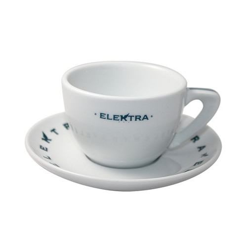 """Elektra"" Logo Cappuccino Cups/ Saucers [Set of 6] - The Concentrated Cup"