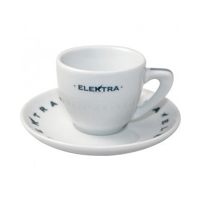 """Elektra"" Logo Espresso Cups/ Saucers  [Set of 6] - The Concentrated Cup"