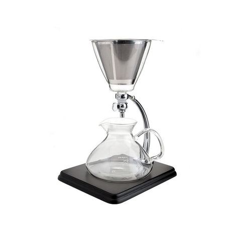Silverton Coffee/ Tea Dripper w Black Wood & Stainless Station & Cone Filter - The Concentrated Cup