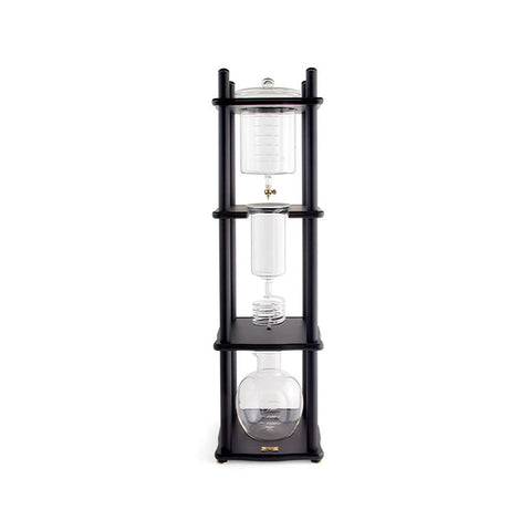 Yama Cold Drip Coffee Maker (25 Cup) w Straight Black Wood Frame - The Concentrated Cup