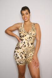 Back At It Playsuit - Leopard
