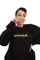 $AVAG£ XL Jumper - Black/Gold