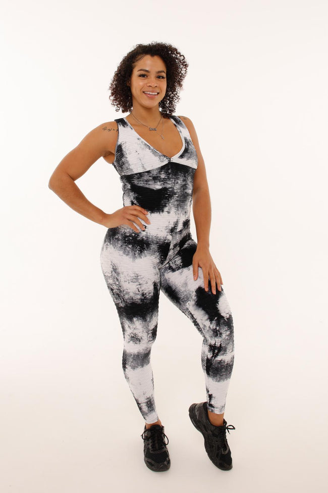 Crossroads Jumpsuit - Black Tie Dye