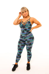 Diamonds Jumpsuit - Palm Print
