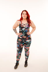 Diamonds Jumpsuit - Black Floral
