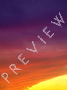 Beautiful Sunset Sky Overlay