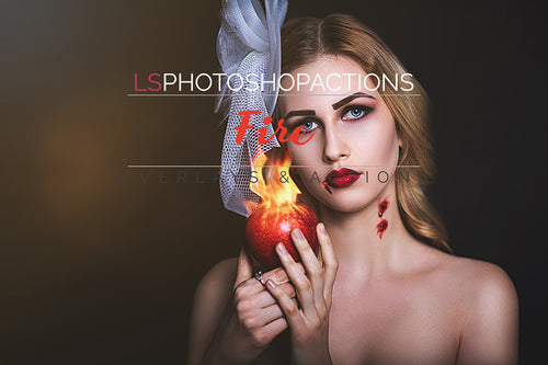Fire Overlays and Photoshop Actions