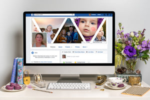 Triangles Facebook Cover Template