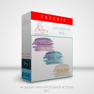 Free waterbrush Logo Template pack