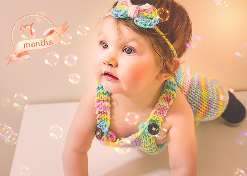 Baby Girl Monthly | Yearly Banner Overlays and Photoshop Actions