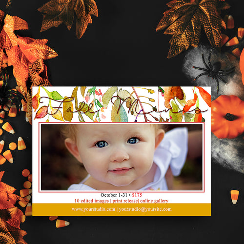 Fall Leaves Chic Marketing Template, baby