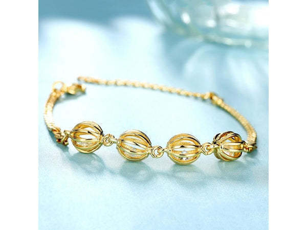 White&Gold  :  Graceful Inlaid White Zircon Different Types New Gift bracelet