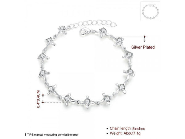 White&Silver  :  Charming china supplier love forever silver bracelet