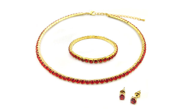 Red Classic tri set on Gold