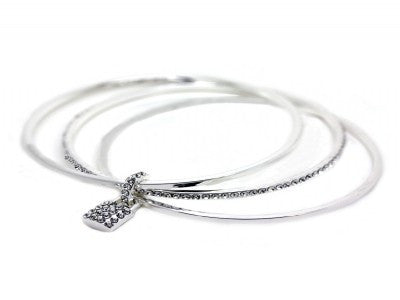Locket Bangle silver