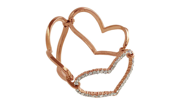 Large Link Heart Bracelet Rose Gold