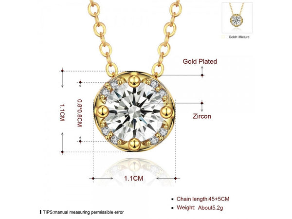 Champagne&Rose Gold  :  High Quality zircon necklace Fashion Jewelry Free shopping 18K gold plating necklace