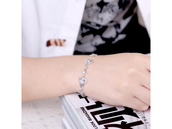 White&Silver  :  Hot sales new fashion jewelry bracelet silver bracelet
