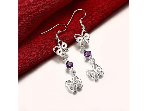 Multicolor&Silver  :  Fashion popular  silver plated jewelry sets for sale
