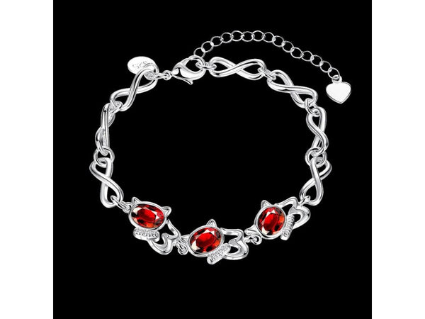 Red&Silver  :   Fashion popular  silver plated jewelry sets for sale