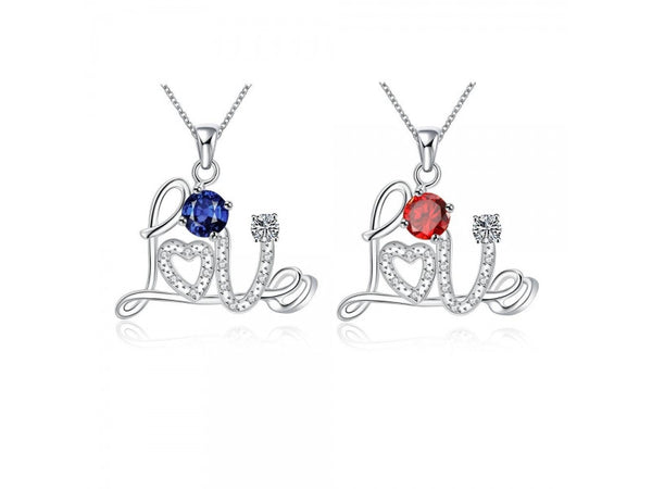 blue&Silver  :   Silver plated necklace brand new design pendant necklaces jewelry for women