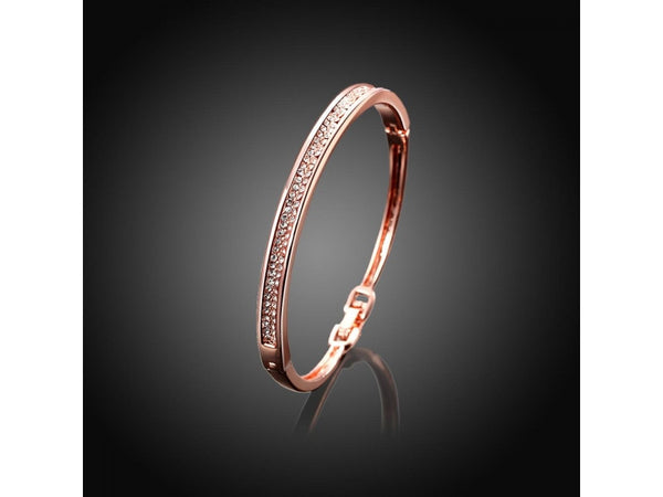 White&Rose Gold  :  Good Quality Nickle Free Antiallergic 2015 New Fashion Jewelry K Gold Plated Bracelets