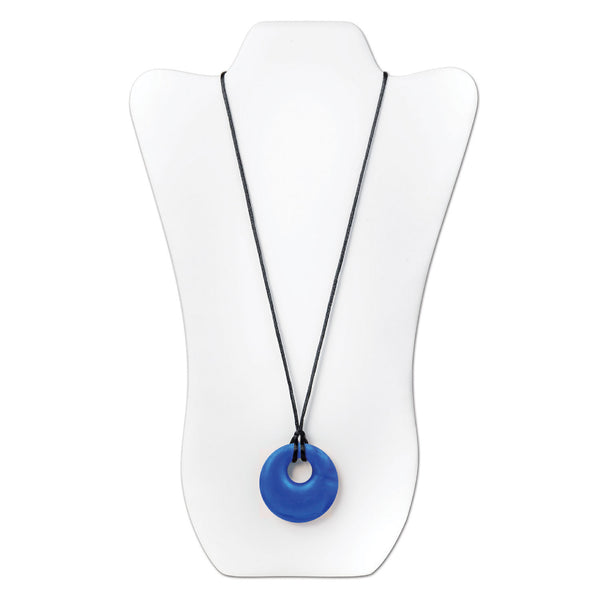 Nixi Gemma Silicone Necklace Teether in Sapphire