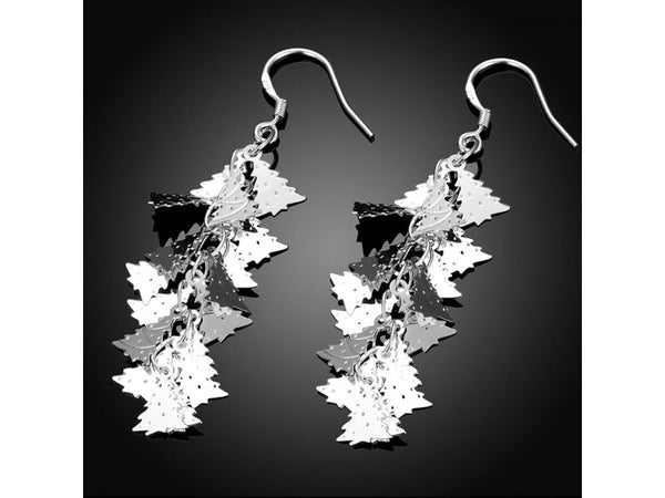 Silver  :  2015 New supplies earrings fashion high quality