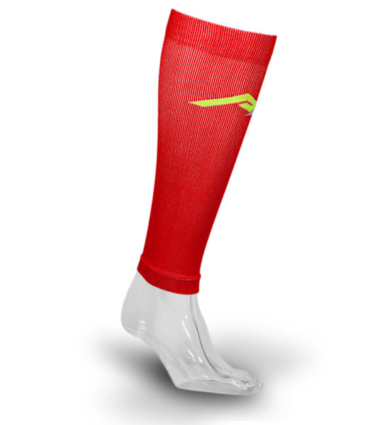 Marathon Compression Calf Sleeves, Red S/M
