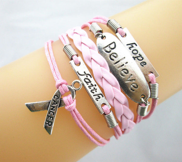 Breast Cancer Support and Awareness Bracelet
