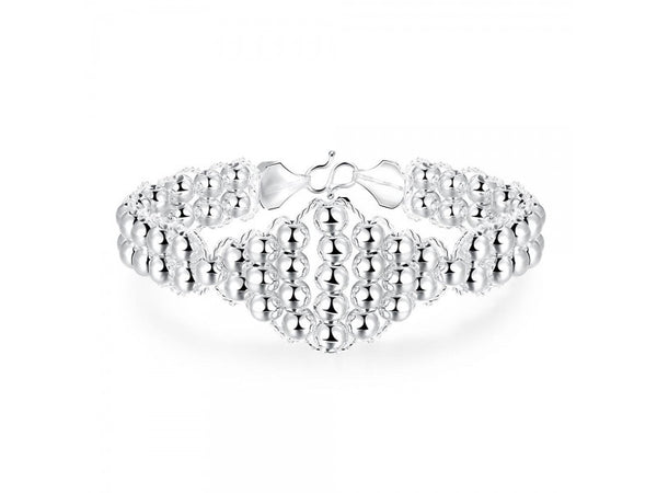 Silver  :    Latest Women Classy Design  silver plated bracelet Factory Direct Sale