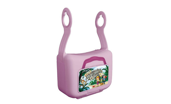 Lil' Booty Adventure Wipes Dispenser & 42ct wipes - Pink