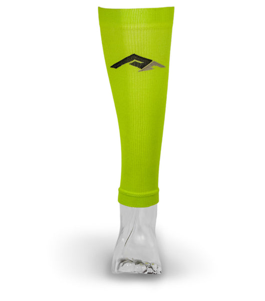 Marathon Compression Calf Sleeves, Lime L/XL
