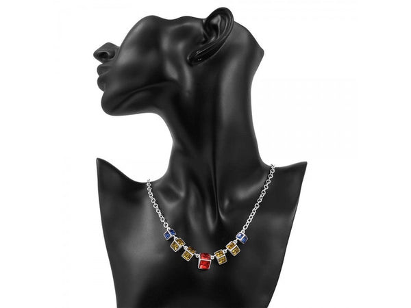 Multicolor&Silver  :  hot brand new fashion popular chain necklace jewelry