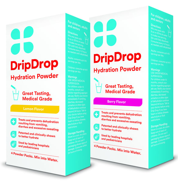 DripDrop Hydration Powder 2 Pack-Natural Lemon and Natural Berry