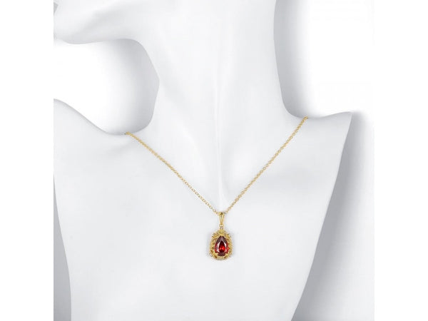 Gold  :  High Quality zircon necklace Fashion Jewelry Free shopping 18K gold plating necklace