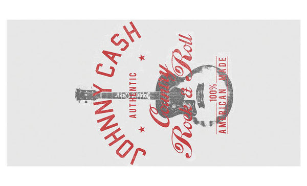 Johnny Cash - Authentic Country of Rock & Roll Towel