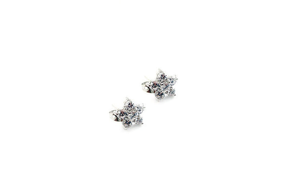 Crystal Flower Earrings with Swarovski Elements