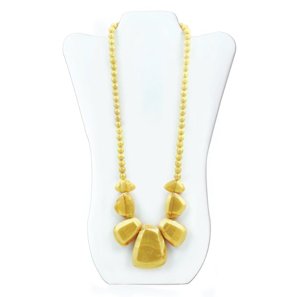 Nixi Rocca Silicone Necklace Teether in Gold