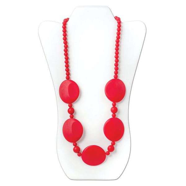 Nixi Pietra Silicone Necklace Teether in Red