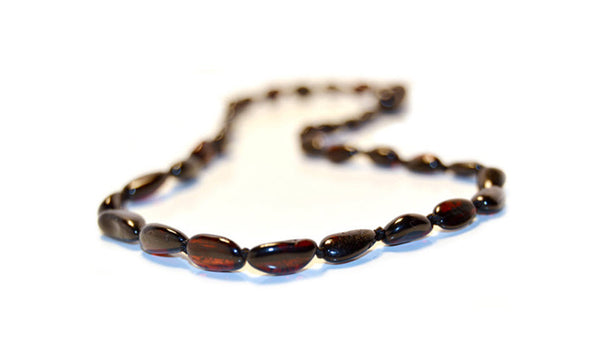 Cherry Bean Authentic Baltic Amber Teething Necklace
